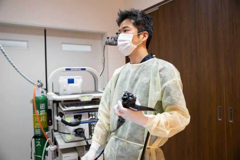 実際の大腸内視鏡検査の流れ